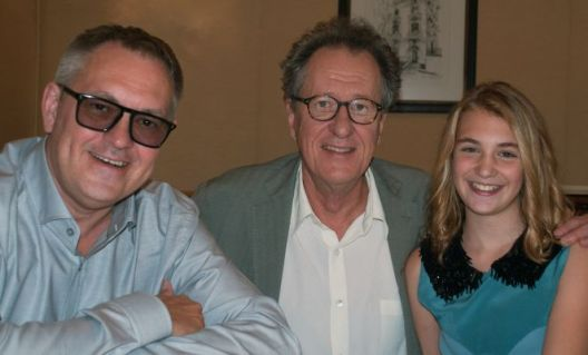 Brian Percival, Geoffrey Rush, Sophie Nelisse. San Francisco, CA 10/4/13