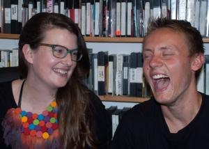 Genevieve Bailey and Dagan share a laugh, San Francisco, CA 9/24/14