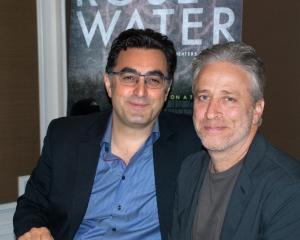 Maziar Bahari, Jon Stewart, San Francisco, CA 10/22/14